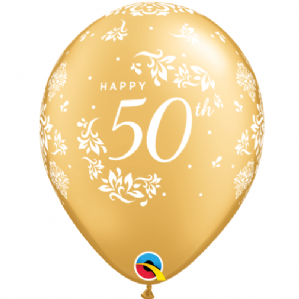 50th Anniversary Balloons  | Free Delivery Available